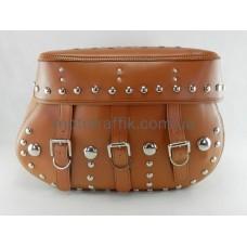 Кофры-сумки боковые мото большие, пара, (коричневые)