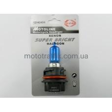 Лампа фары Honda (Хонда)  AF-35/48/51, 40/40W, цоколь PH11 пластмассовый (синяя)
